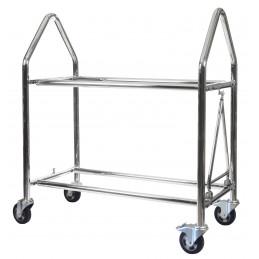 Trolley a pneus BG Inox 1800mm